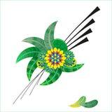 состав стрелки любов цветет сердце Стоковая Фотография RF