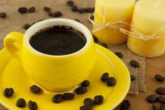 Состав с кофейной чашкой Стоковое Изображение