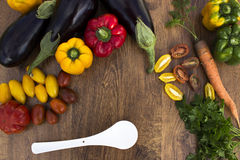 Состав с овощами Стоковое фото RF