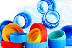 Состав с пластичными бутылками и крышками Стоковое Изображение RF