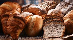 Состав с разнообразием продуктов выпечки Стоковые Изображения RF