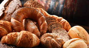 Состав с разнообразием продуктов выпечки Стоковые Фото