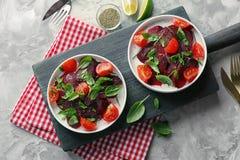 Состав с свежим салатом свеклы Стоковая Фотография RF