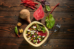 Состав с свеклой и салатом Стоковое фото RF