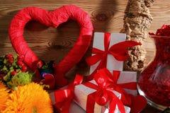 Состав с сердцем для всех любовников Стоковые Изображения