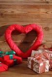Состав с сердцем для всех любовников Стоковая Фотография