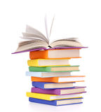 Состав с стогом книг Стоковые Фотографии RF