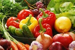 Состав с сырцовыми овощами Стоковое Фото