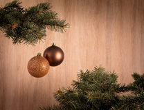 Состав с шарики украшения рождественской елки и рождества, Стоковые Фотографии RF