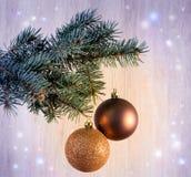 Состав с шарики украшения рождественской елки и рождества, Стоковое фото RF