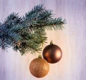 Состав с шарики украшения рождественской елки и рождества, Стоковое Фото