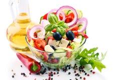 Состав с vegetable салатницей сбалансированное диетпитание стоковое фото