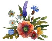 Состав цветка акварели иллюстрация вектора