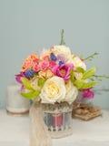 Состав цветка с розами Стоковое Изображение
