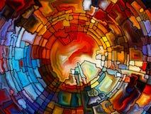Состав цветного стекла Стоковое фото RF