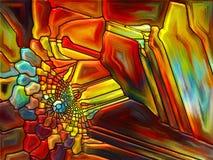 Состав цветного стекла Стоковая Фотография RF