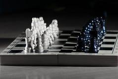 Состав шахмат на темной предпосылке business concept images more my portfolio startegy стоковое фото rf