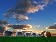 Состав шлема футбола стоковые изображения rf