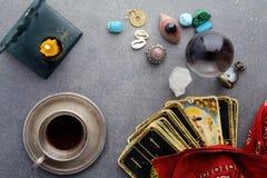 Состав эзотерических объектов, используемый для излечивать и удач-говорить стоковая фотография
