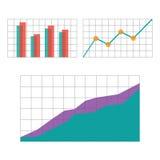 Составляет схему элементам для infographics дела Стоковые Изображения