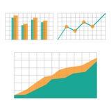 Составляет схему элементам для infographics дела Стоковое Изображение RF
