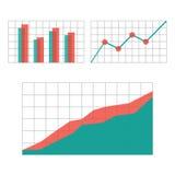 Составляет схему элементам для infographics дела Стоковое Фото