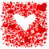 Состав Heart.Valentines Иллюстрация вектора