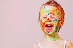 Состав ` s детей, портрет pictur счастливого ребёнка юмористического Стоковое фото RF
