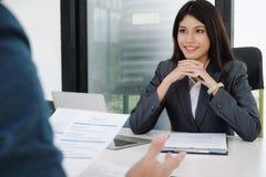 Состояние бизнеса, концепция собеседования для приема на работу Стоковая Фотография