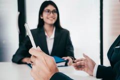 Состояние бизнеса, концепция собеседования для приема на работу Стоковое Изображение RF