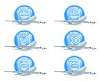 состояние иконы полета установленное Стоковое Фото