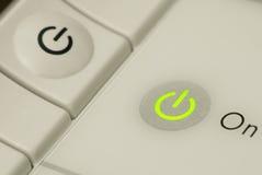 состояние силы кнопки светлое Стоковые Фотографии RF