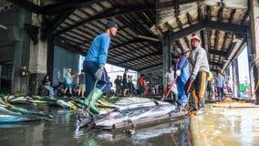 Состыкованная рыбацкими лодками гавань Chenggong удя извлекает липкую жидкость рыбной ловли Стоковое фото RF