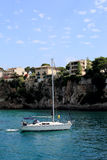 Состыкованная яхта. Мальорка. Испания стоковые изображения