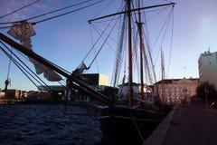 Состыкованное парусное судно Викинга Стоковое Изображение