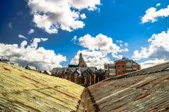 Состыкуйте здания в порте Антверпена - Бельгии стоковые изображения
