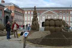 Состязание конструкции песка в Дублине, Ирландии Стоковое Изображение