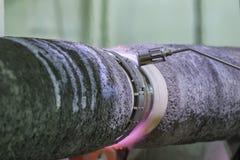 Сосуд покрытия соединения трубы стоковое изображение