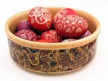 Сосуд с пасхальными яйцами Стоковое фото RF