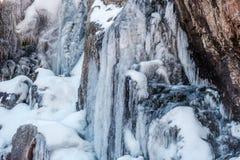 Сосульки на Timberline падают водопад Стоковая Фотография RF