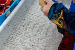 Соткать ковра Стоковое Фото