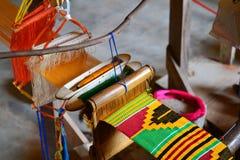 Соткать ткани Kente Стоковая Фотография RF