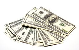Сотни американских долларов Стоковое Фото