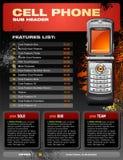 сотовый телефон брошюры выдвиженческий Стоковые Фотографии RF