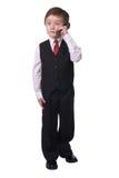 сотовый телефон мальчика Стоковая Фотография RF