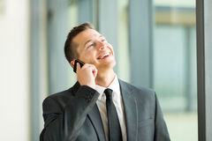 Сотовый телефон бизнесмена Стоковая Фотография RF