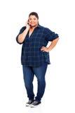 Телефон девочка-подростка Стоковая Фотография