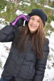 Сотовый телефон зимы Стоковое Изображение