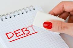 Сотрите личный конспект задолженности Стоковые Фотографии RF