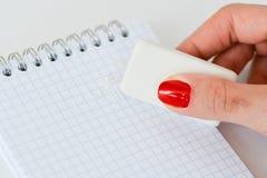 Сотрите личный конспект задолженности Стоковое фото RF